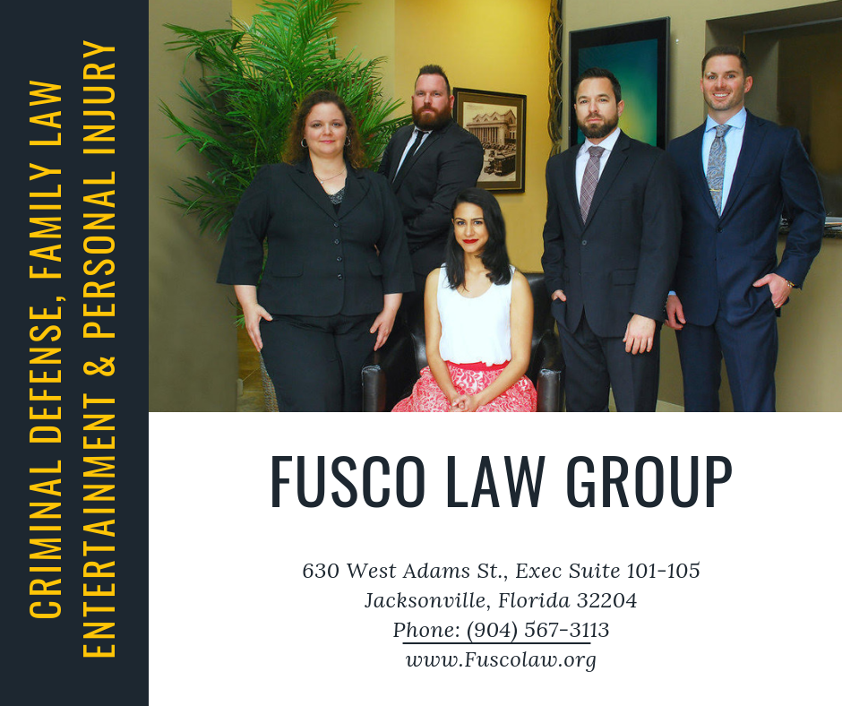 Picture of attorneys at Fusco Law Group with address, phone number and website